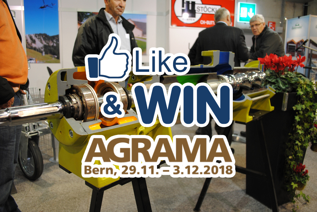 Like & WIN AGRAMA Bern, 29.11.-3.12.2018